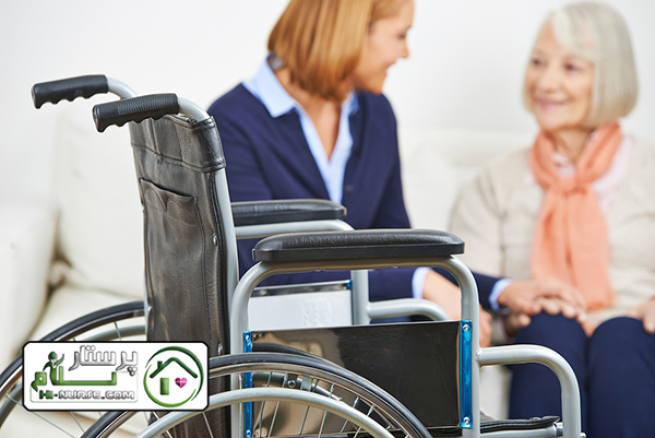 پرستار سالمند سنگین وزن در نارمک