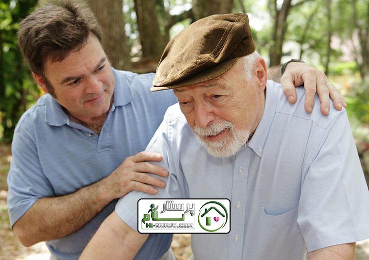 مراقبت از سالمند آقا که یه طرف بدنش لمسه