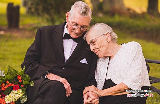 یک زوج سالمند که آقا پوشکیه ،لواستان