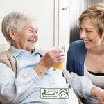 مراقبت از سالمند خانم آلزایمری و پوشکی ، فردوس غرب