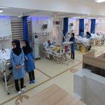 همراه بیمار در بیمارستان شهید رجایی کرج