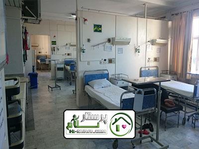 همراه بیمار در بیمارستان گلستان