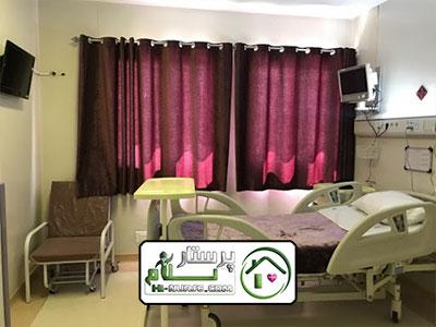 همراه بیمار آقا در بیمارستان خاتم الانبیا