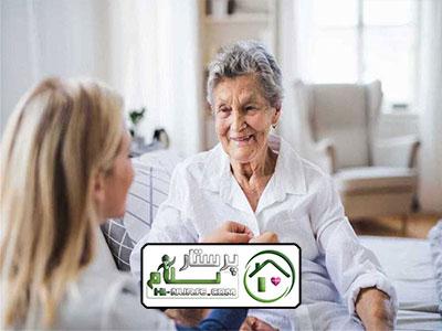 پرستاری از سالمند خانم خوش